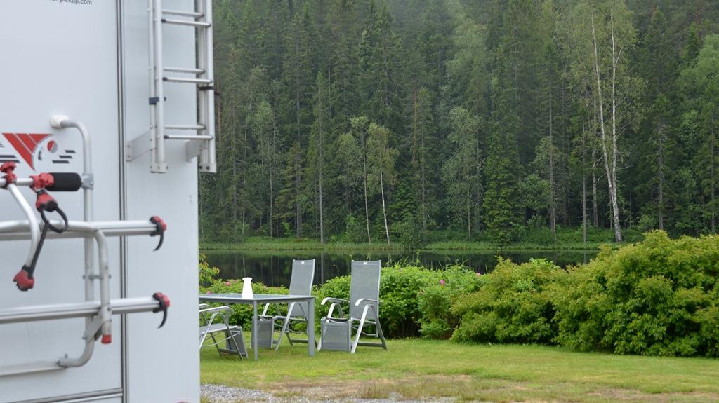 Das Wetter wechselt, der Campingplatz wird nass...