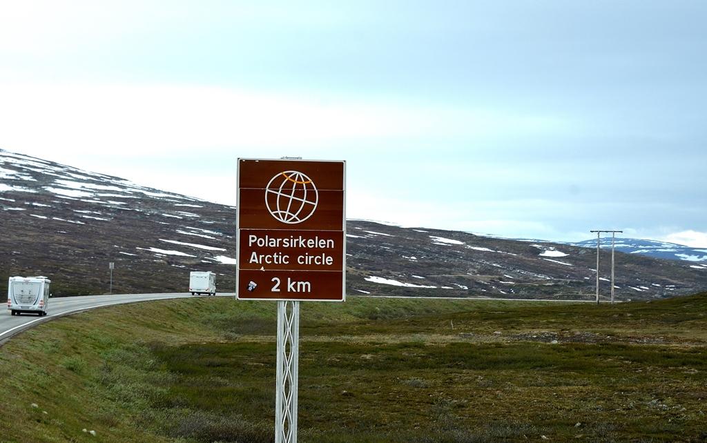 ...nur noch 2 km bis zum Polarkreis