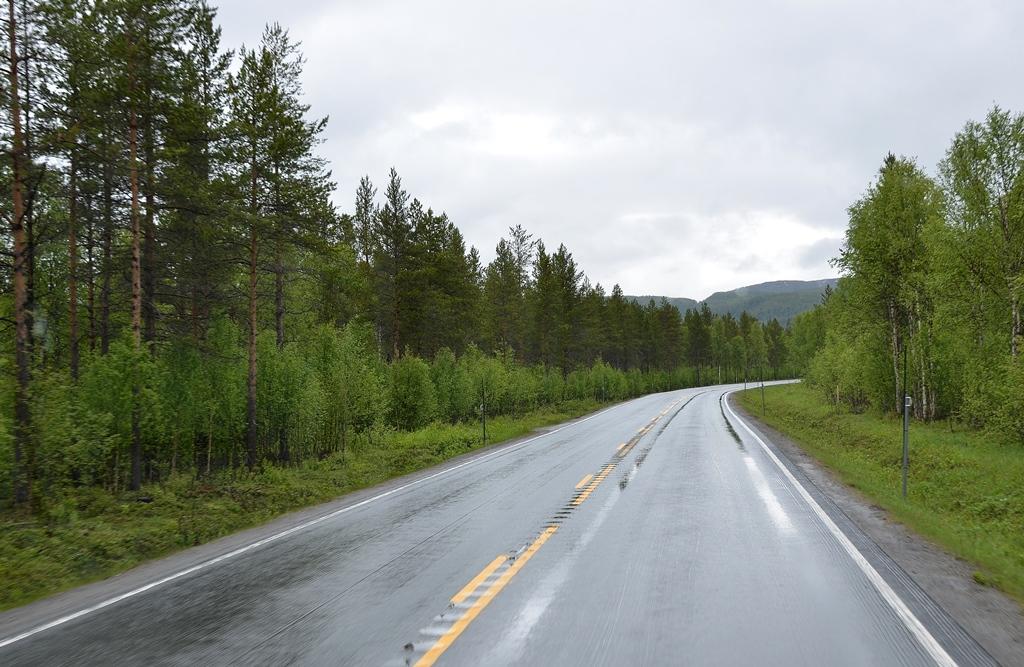 Wir sind wieder auf der Strasse Richtung Nordkapp