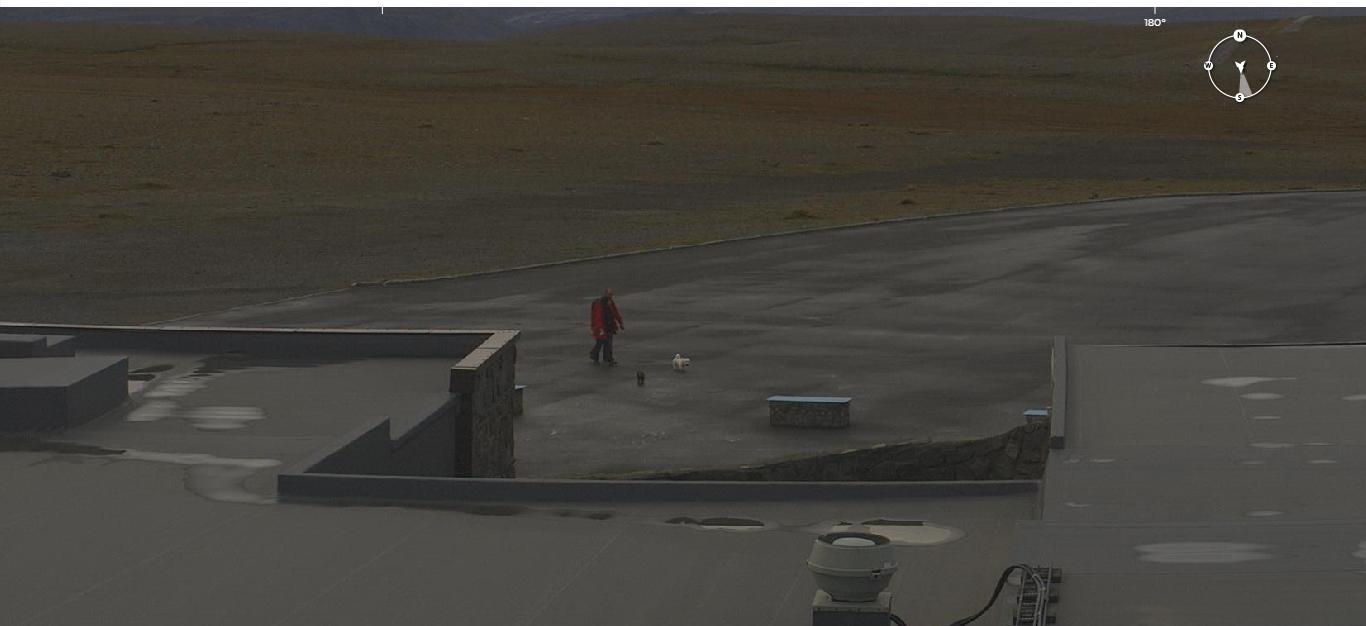 Beweisfoto Webcam - Wir sind am Nordkapp