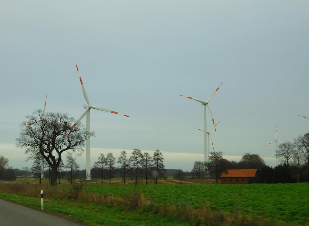 Die ersten Windräder...