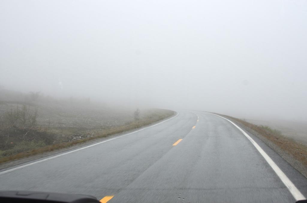 Tja ... heute früh sehen wir nicht viel von Norwegen