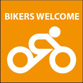 Motorrad- und Radfahrer sind herzlich willkommen!