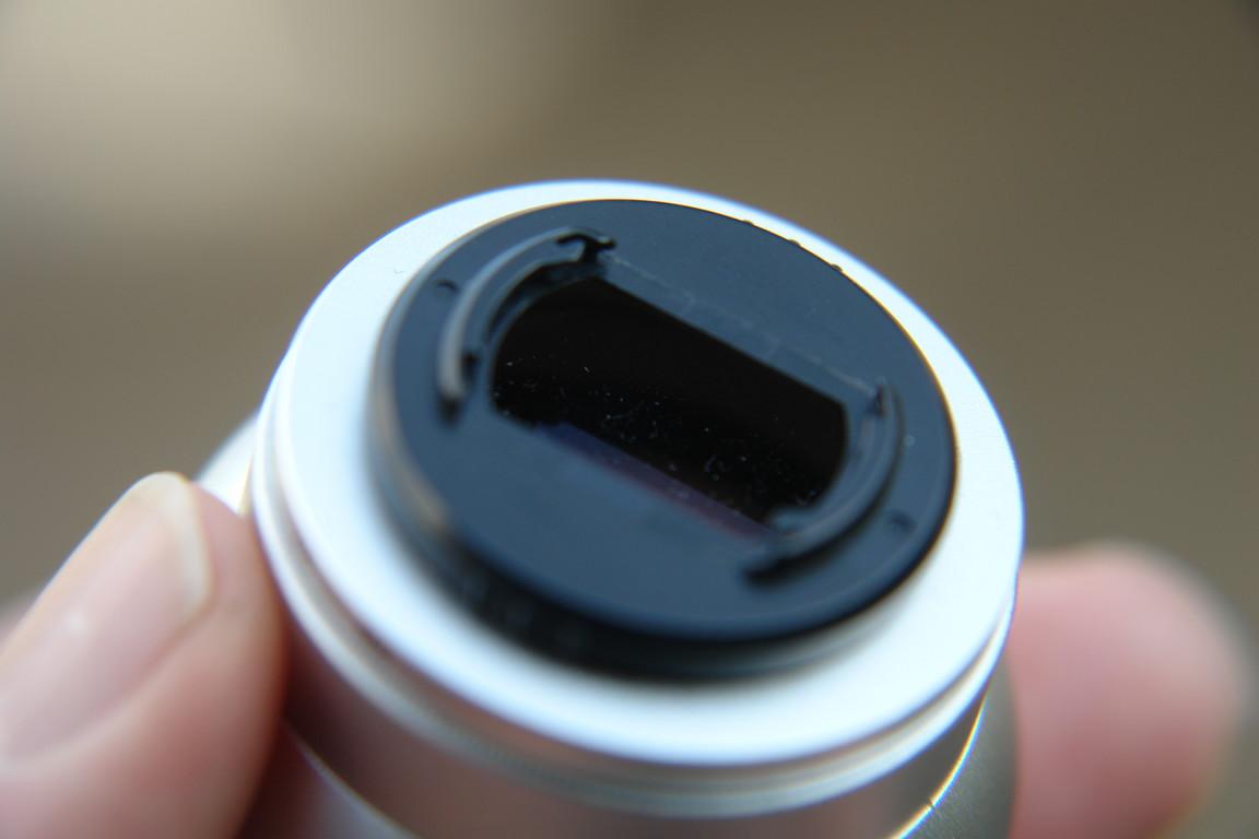 Dieses kleine Teil ist unabdingbar: ein Bajonettverschluß aus schnödem Plastik !