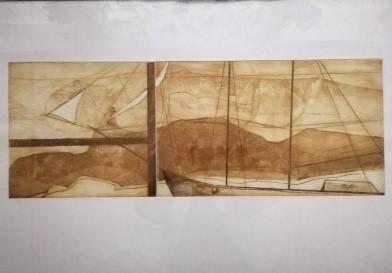 Ein Mauerstück, Radierung 100 x 70 cm, o. J., unsigniert, Preis auf Anfrage