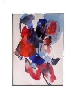 o.T., Aquarell, 20 x 14 cm, Preis mit Rahmen: 150 cm