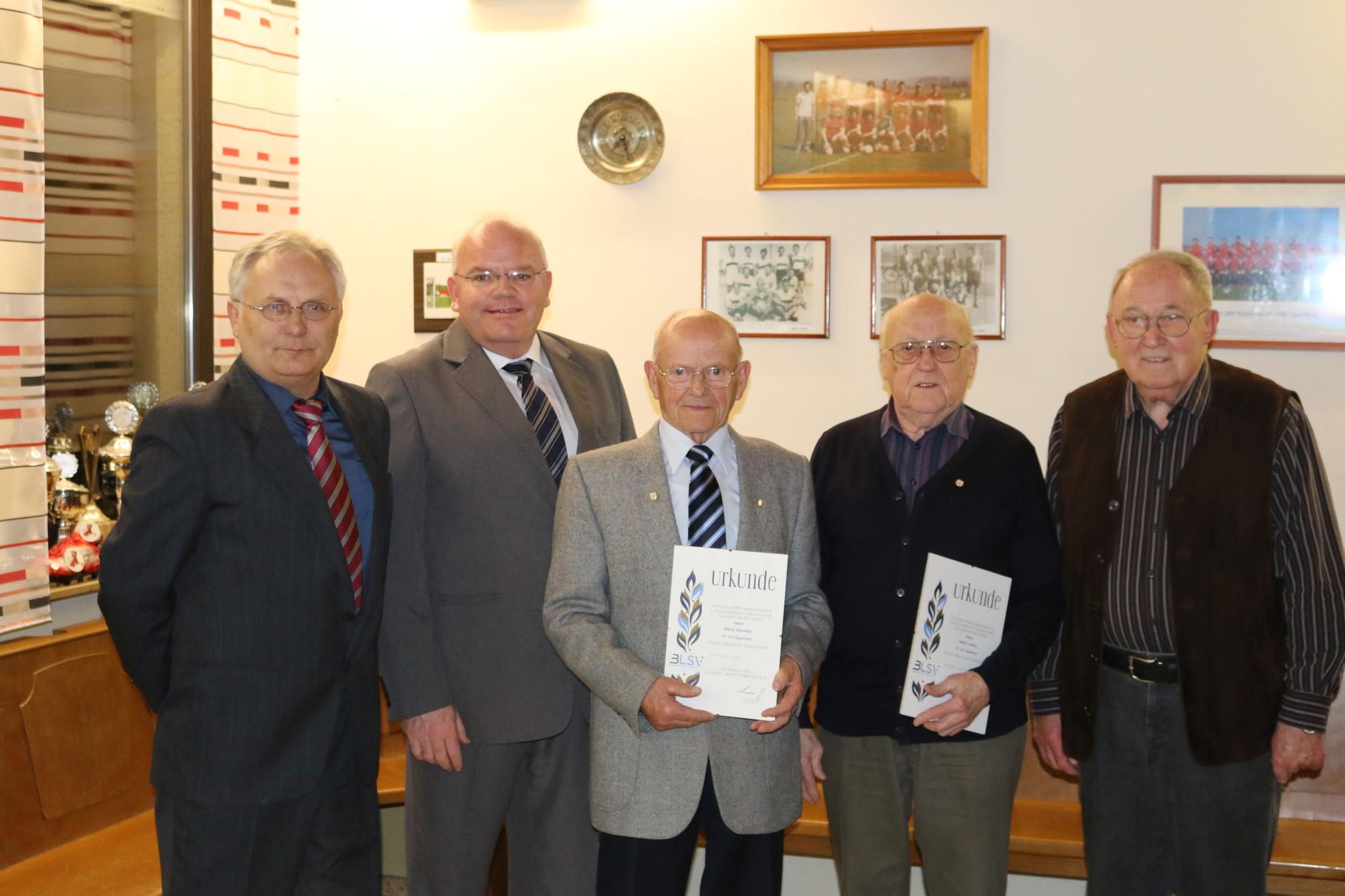 65 Jahre Mitgliedschaft und Gründungsmitglieder