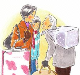 『F駅のホームで』小学校道徳六年 あすをみつめて(日本文教出版)
