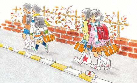 『おちていた手ぶくろ』小学校道徳三年 あすをみつめて(日本文教出版)
