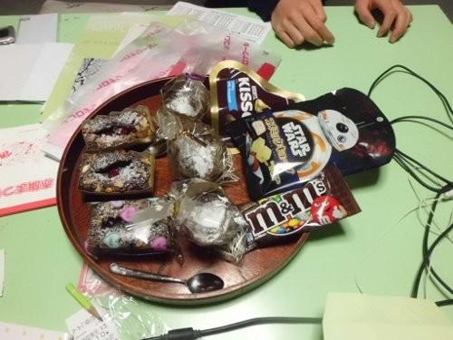 チョコ3種類、3人分・・