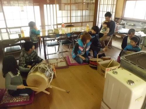 お祭りの練習、イン、木の実地区