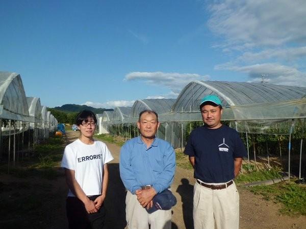 橋場社長と、石川トマト農園ゆっこ社長も一緒に