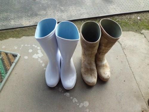 長靴の新旧交代・・