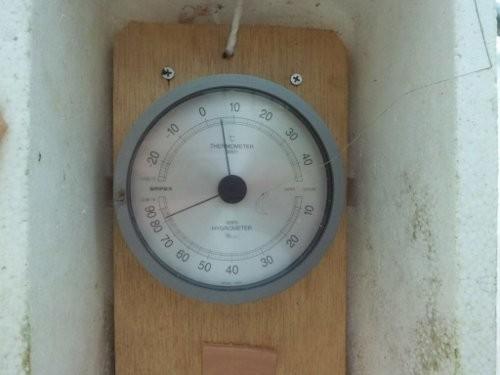 気温5度で湿度80%超