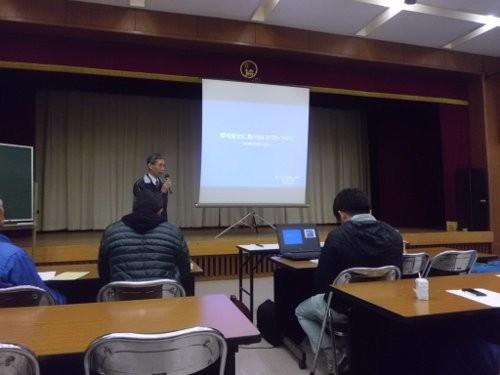 生科研は会長の中嶋さんの講義