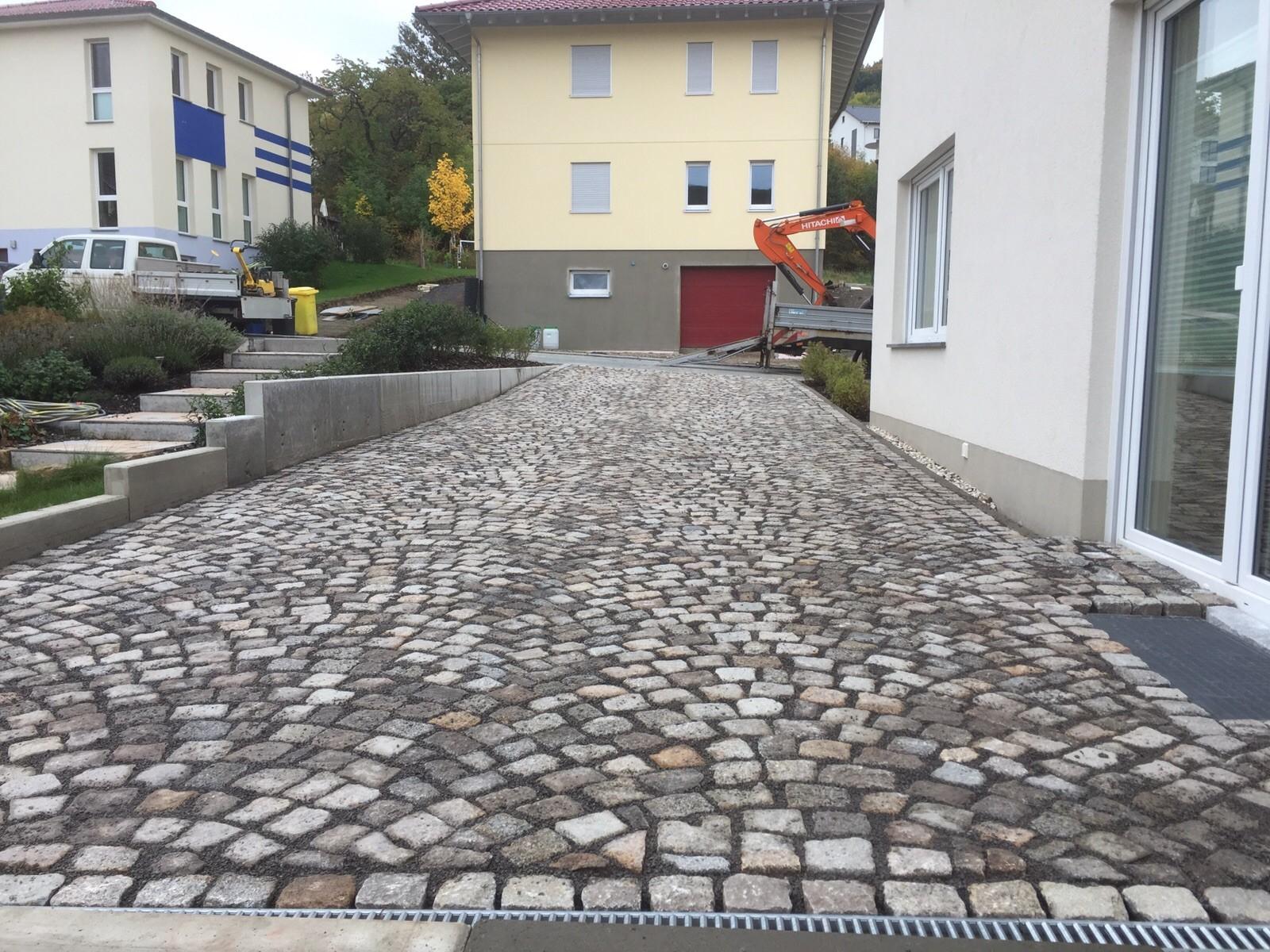Granitpflaster in Segmentverlegung