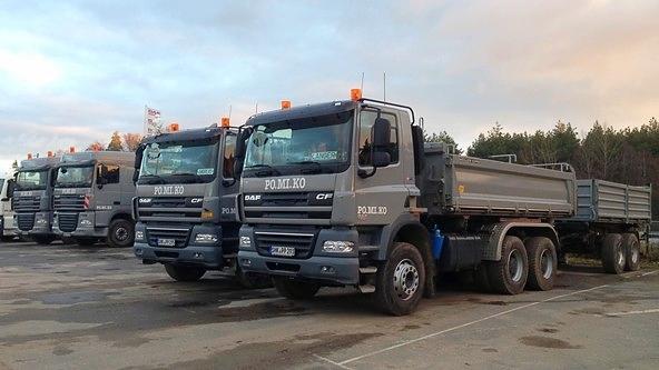 Schüttguttransporte: Drei-Achser-Hängerzüge für Schüttguttransporte (Fertigertauglich)