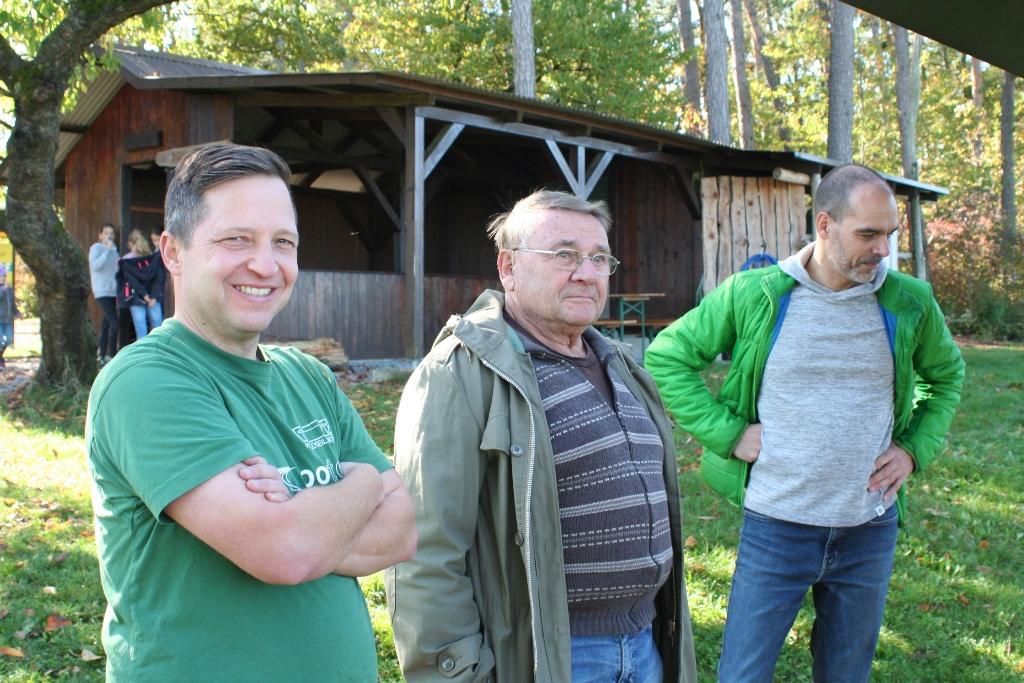 Matze Fischer, Manfred Frey und Michael Herzog-Klemenz (v.l.n.r.) - Peter Schlör, Christoph Losert und Michael Hökel komplettierten das Betreuerteam.