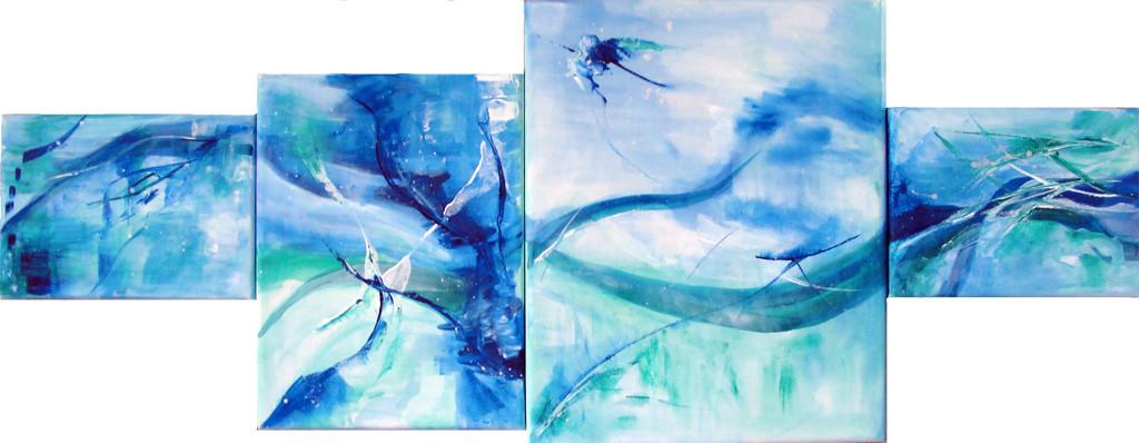 Underwater 4teilig 30 x 77 cm