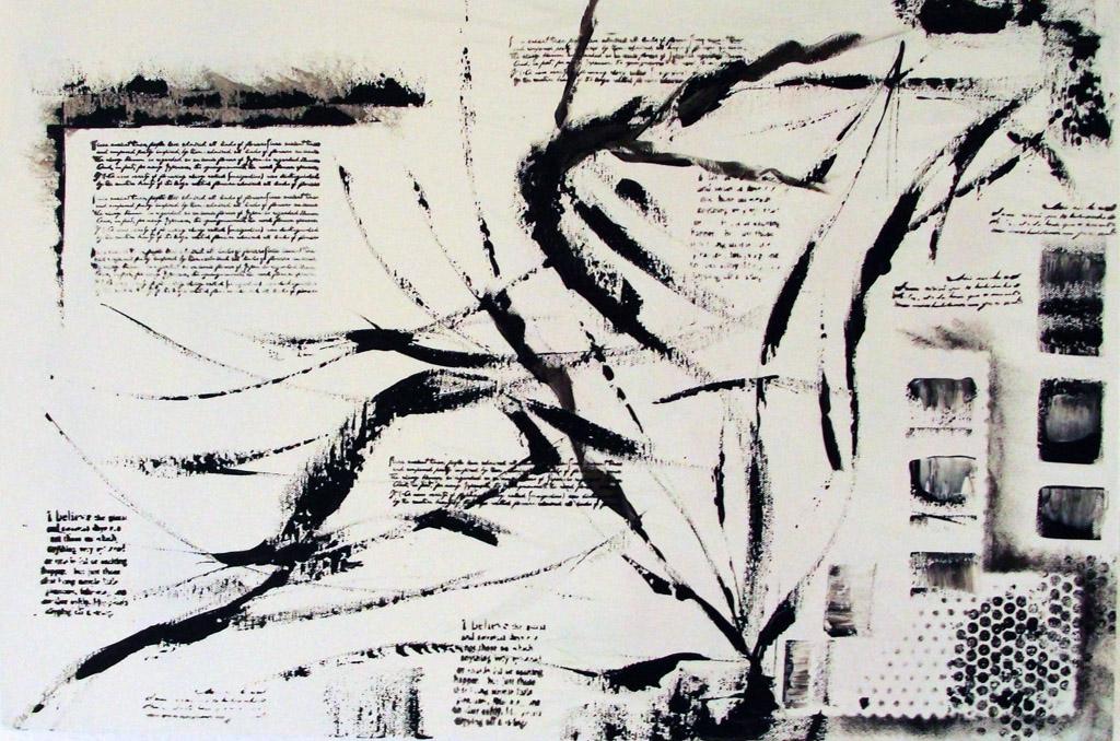 black script 40 x 60 cm