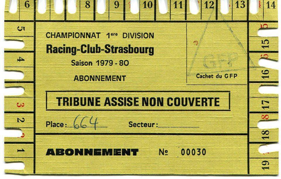 Abonnement saison 1979-1980