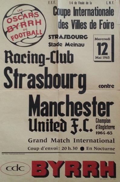 RCS - Manchester United 1/4 de finale aller Coupe des villes de foire 1965