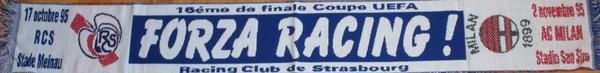 16e de finale Coupe UEFA Racing - Milan AC 0-1 et 1-2 (Contributeur : Pepito)