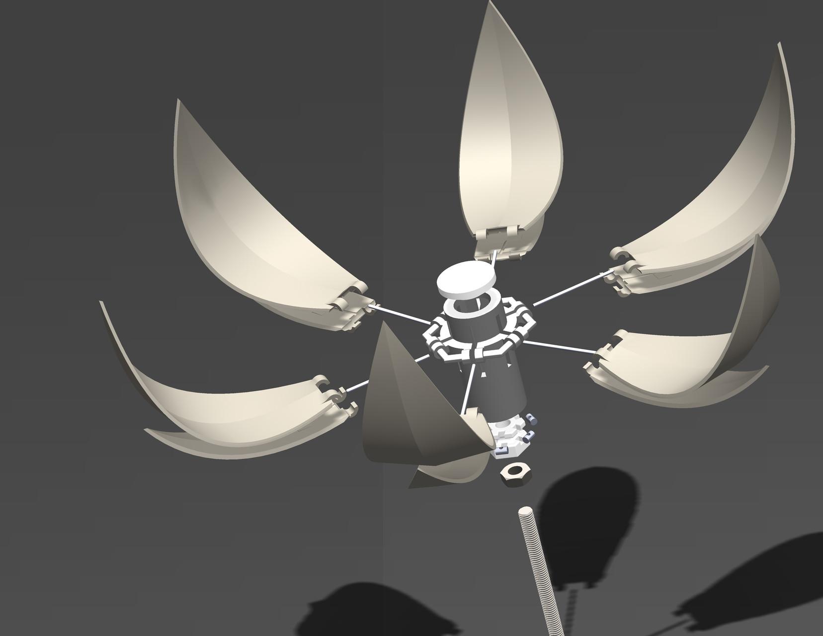 Mechanische constructie bloem