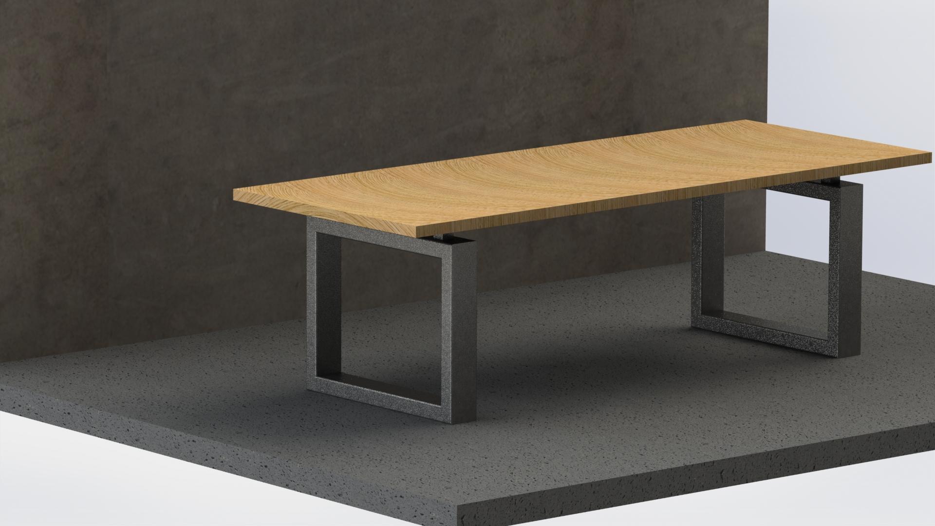 Tafel zwevend 250 x 75cm €1110,-