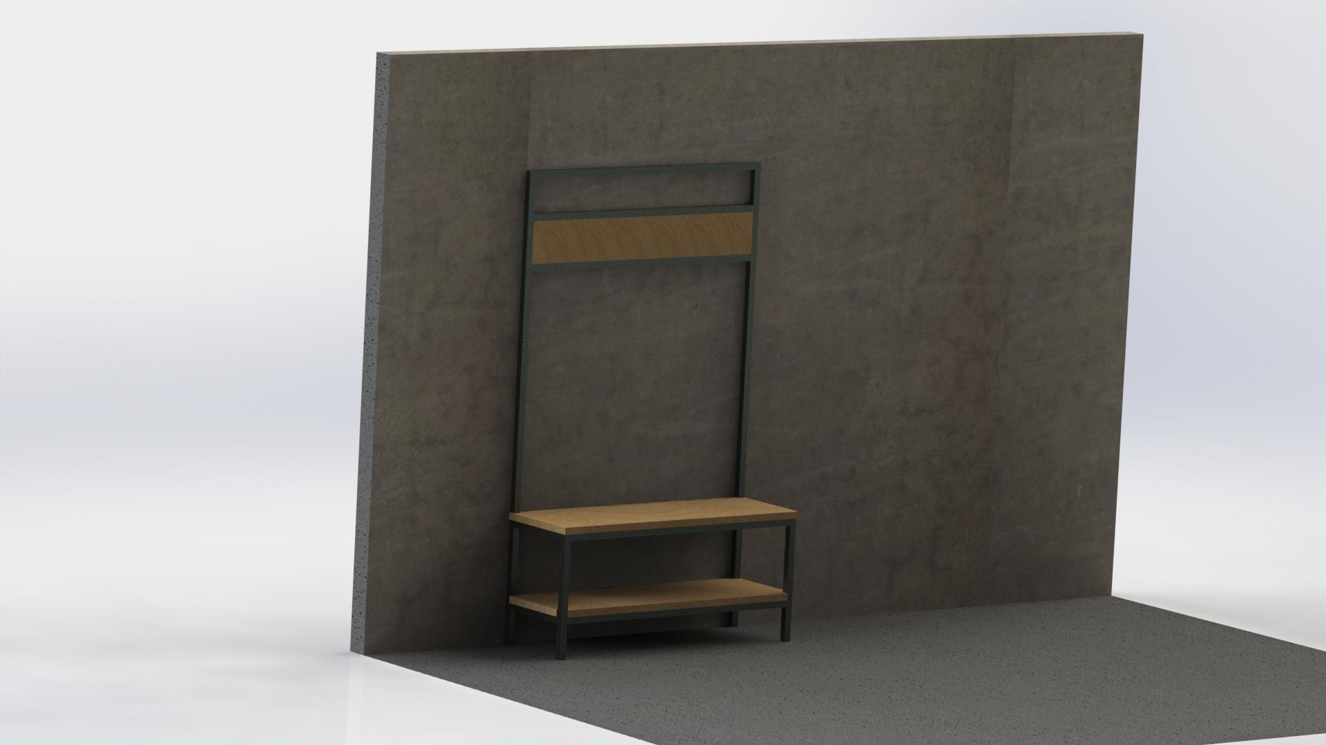 Kapstok meubel 200 cm €740,-