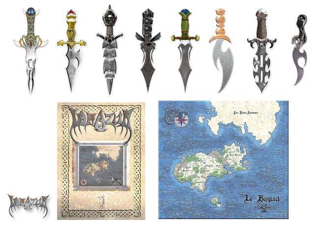 Poignards, dagues &couteaux + Illustrations du monde d'Ibrazur