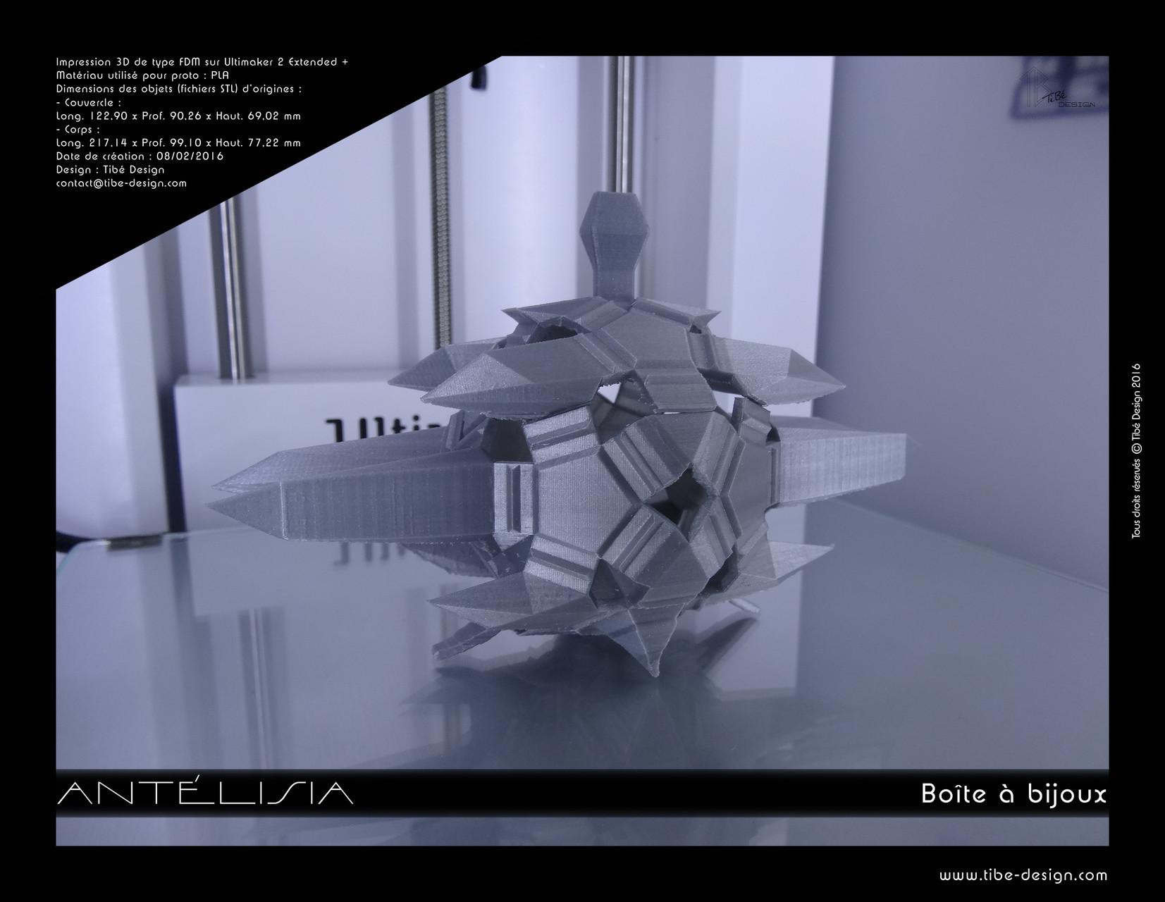 Boîte à bijoux Antélisia print 3D