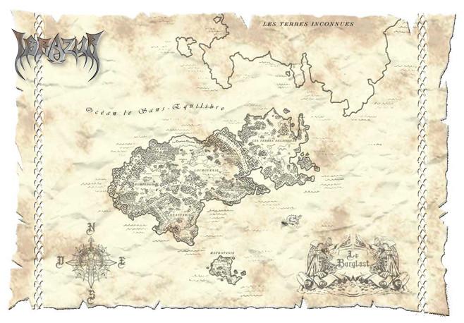 Carte du monde d'Ibrazur