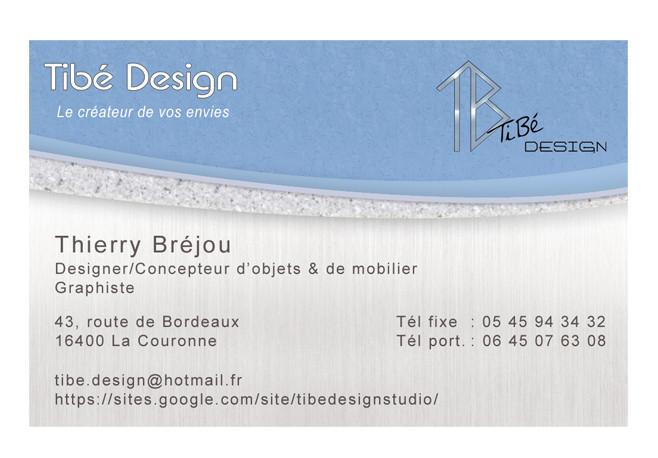 Carte de visite Tibé Design Verso