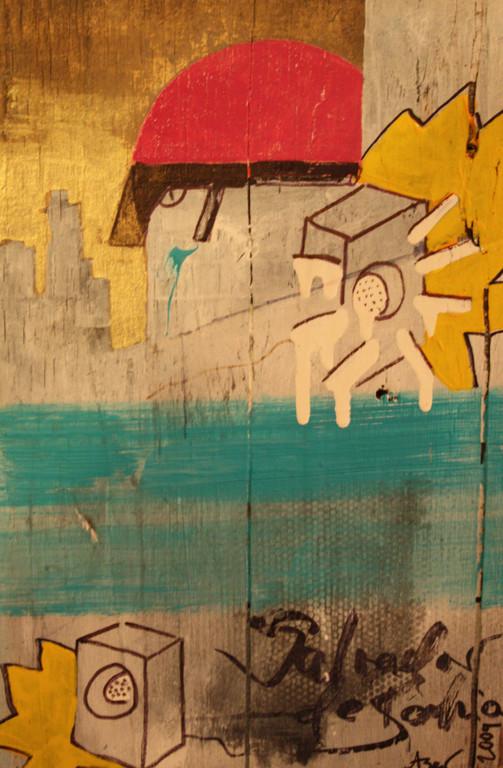 Salvador de Bahia, Acryl/Lack auf Holz, 2009, 0,25 x 0,3m