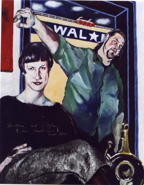 Barbara und Stefan, Acryl auf Leinwand, 2000, 1 x 0,8 m