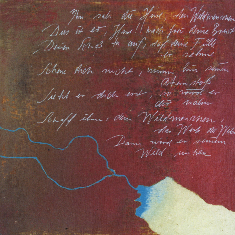 Tafel 1b, Acryl auf Holz, 2001, 0,3 x 0,3 m