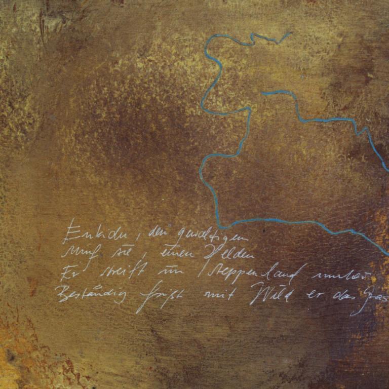 Tafel 1a, Acryl auf Holz, 2001, 0,3 x 0,3 m