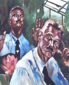Prof. Barthlott, Acryl auf Leinwand, 2000, 1 x 0,8 m