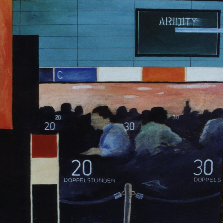 Tafel 4a, Acryl auf Holz, 2001, 0,3 x 0,3 m