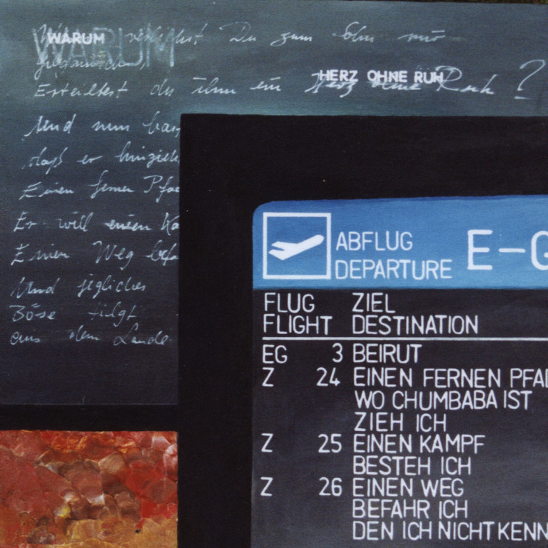Tafel 3a, Acryl auf Holz, 2001, 0,3 x 0,3 m