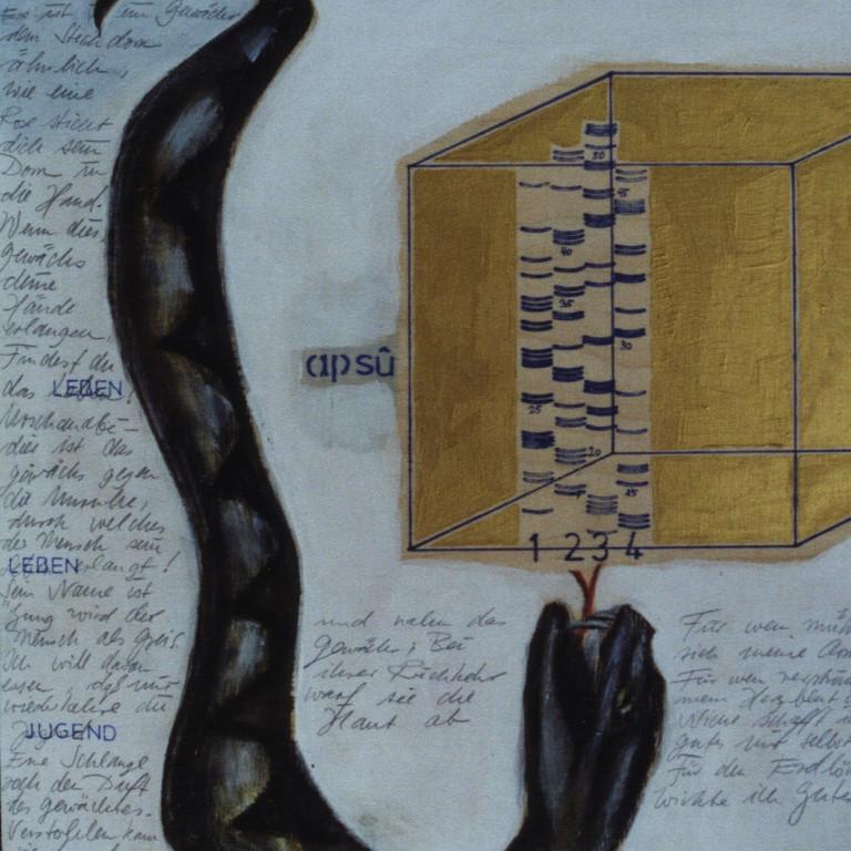 Tafel 11b, Acryl auf Holz, 2001, 0,3 x 0,3 m