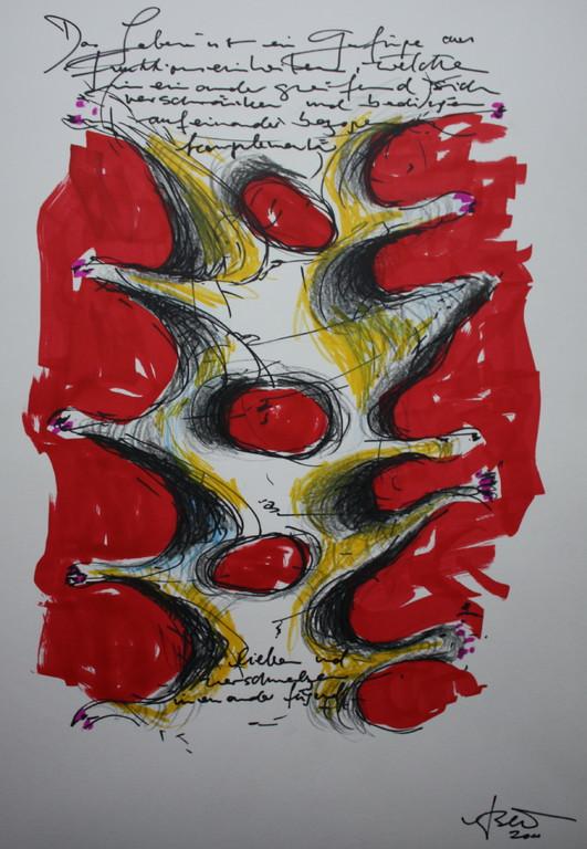 spin, Grafik/Papier, 2011, 0,4 x 0,3 m