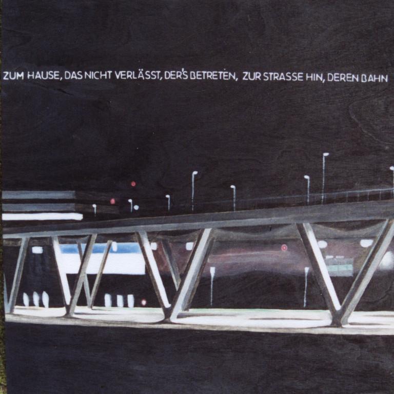 Tafel 7a, Acryl auf Holz, 2001, 0,3 x 0,3 m