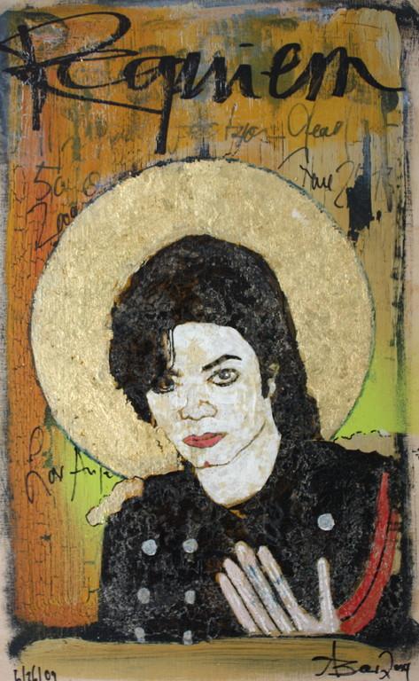Michael Jackson Icon 06/26/09, Acryl/Reißlack auf Leinwand, 2009, 0,4 x 0,25 m