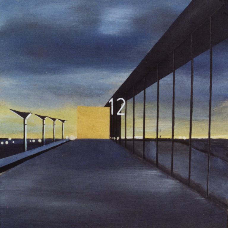 Tafel 8b, Acryl auf Holz, 2001, 0,3 x 0,3 m