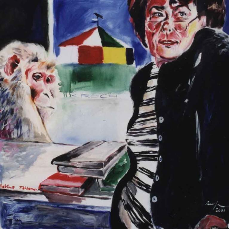 Frau Dr. Fehlemann, Acryl auf Leinwand, 2001, 1 x 0,8 m