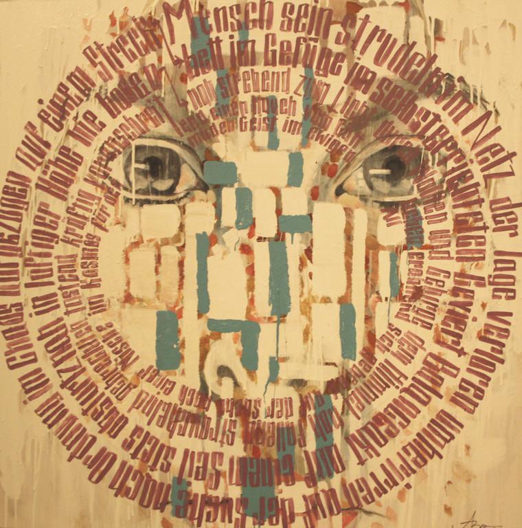 Bestandsaufnahme, 2011, 1 x 1m, Mischtechnik
