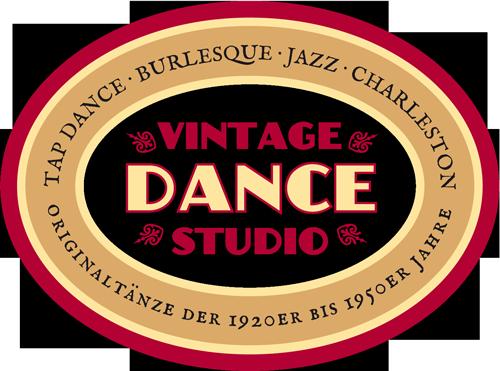 Logo Vintage Dance Studio Silvia Plankl München, Stepptanzschule, Burlesqueschule, Charlestonschule