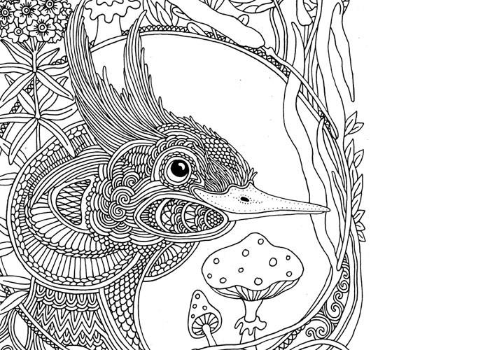 """Чомга, фрагмент иллюстрации для книги """"Ветер уносит цветы"""", 2015"""